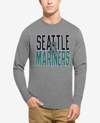 47 Brand '47 Men's Seattle Mariners Power Alley Long Sleeve T Shirt Gray