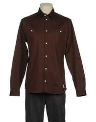 Suit Long Sleeve Shirts Cocoa