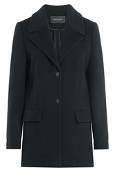 Cedric Charlier Wool Blend Coat Blue