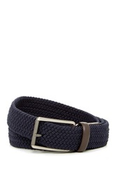 Original Penguin Woven Elastic Leather Belt Blue
