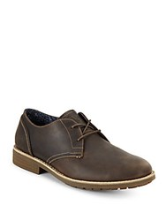 Penguin Lugger Leather Lace Up Oxfords Brown