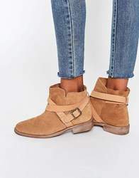 Asos Alex Suede Slouch Ankle Boots Sand Beige