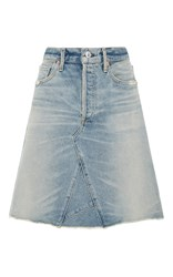Citizens Of Humanity Liya High Waist Denim Skirt Light Wash