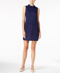 Maison Jules Point Collar Shift Dress Only At Macy's Blu Notte