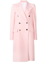Calvin Klein 205W39nyc Double Breasted Fitted Coat Pink And Purple