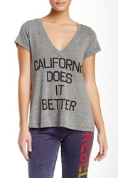 Rebel Yell Cali Does It Better Tee Gray