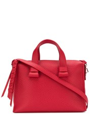 Orciani Pebbled Medium Tote Bag Red