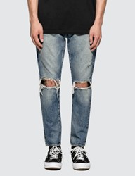 Denim By Vanquish And Fragment Knees Crash Tapered Jeans