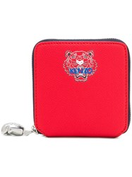 Kenzo Small Zipped Wallet Red