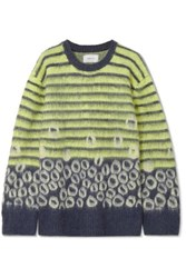 Current Elliott The Wes Intarsia Knitted Sweater Yellow