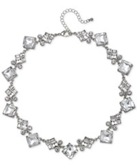 Jewel Badgley Mischka Silver Tone Crystal Collar Necklace 16 3 Extender