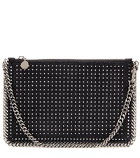 Stella Mccartney Falabella Studded Clutch Black