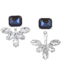 Jewel Badgley Mischka Crystal And Stone Ear Jacket Earrings Blue