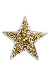 Jimmy Choo Women's Large Starry Crystal Button Cover Yellow