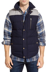 United By Blue 'Drummond' Colorblock Quilt Insulated Vest Grey Navy