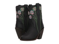 Dingo Dahlia Black Leather Cowboy Boots