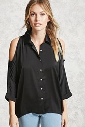Forever 21 Contemporary Open Shoulder Top Black