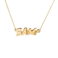 Edge Only Bam Letters Necklace In Gold