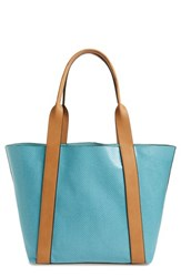 Sondra Roberts Faux Leather Tote And Wristlet Blue Turquoise