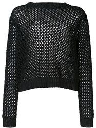 Derek Lam 10 Crosby Lace Up Longsleeved Sweater Black