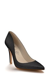 Shoes Of Prey Women's Pointy Toe Pump Black Glitter