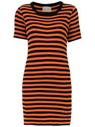 Andrea Bogosian Striped Slim Dress Black