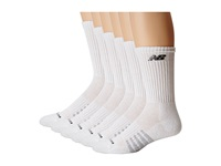 New Balance Crew 6 Pack White Crew Cut Socks Shoes