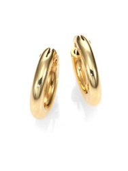 Roberto Coin 18K Yellow Gold Petite Oval Hoop Earrings 0.75