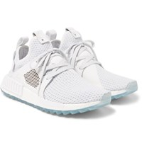 Adidas Consortium Titolo Nmd Xr1 Trail Leather And Primeknit Sneakers White