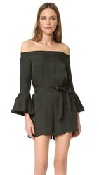 Mlm Label Haze One Shoulder Romper Deep Army