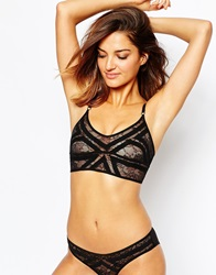Thistle And Spire Thistle And Spire Art Deco Longline Bra Black