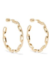 Jennifer Fisher Baby Chain Link Gold Plated Earrings One Size