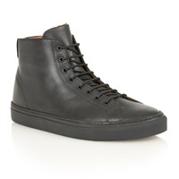 Frank Wright Logan Hi Top Trainers Black