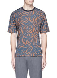 Wooyoungmi Spiral Print Crepe T Shirt Multi Colour