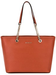 Michael Michael Kors Jet Set Chain Tote Yellow Orange