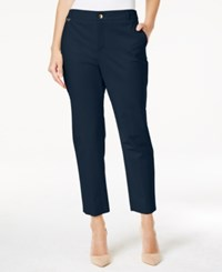 Charter Club Embellished Slim Fit Ankle Pants Only At Macy's Intrepid Blue