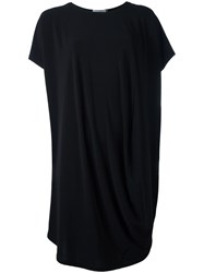 Issey Miyake Shorter Laterals T Shirt Dress Black