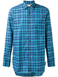 Paul Smith Chest Pocket Checked Shirt Green