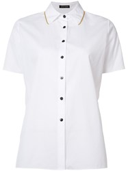 Sophie Theallet Shortsleeved Boxy Shirt White