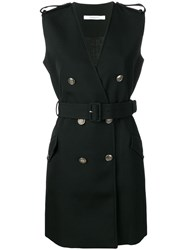 Givenchy Belted Double Breasted Dress Black