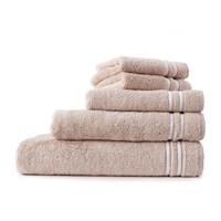 Lexington Superior Towel Beige White Face Cloth