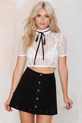 Nasty Gal After Party Vintage Essex Suede Skirt