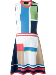 Dsquared2 Colour Block Knit Dress Multicolour
