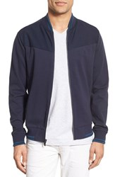 Original Penguin Men's Ponte Knit Track Jacket Dark Sapphire