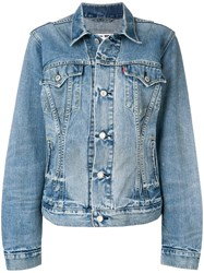 Re Done Fitted Denim Jacket Blue