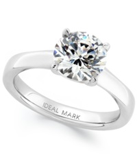 Macy's Idealmark Certified Diamond Solitaire Engagement Ring In Platinum 2 Ct. T.W.