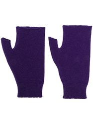 Roberto Collina Cut Out Gloves Purple