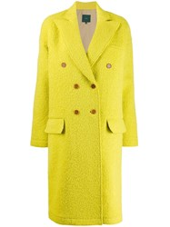 Jejia Fitted Double Breasted Coat Yellow