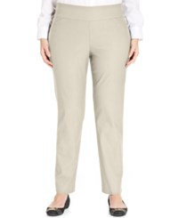 Charter Club Plus Size Tummy Control Slim Leg Pull On Pants Only At Macy's