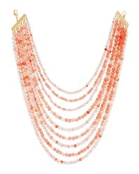Lydell Nyc Layered Multi Strand Beaded Necklace Pink